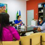 15.03 - Reunião entre a presidente da Funcap, Conceição Vieira, o deputado estadual Georgeo Passos e gestores de Nossa Senhora da Aparecida.